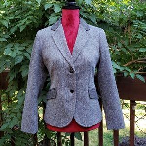 Talbots Black & White Wool Blend Blazer Size 8P